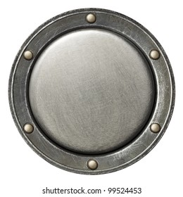 Designed round metal background, texture