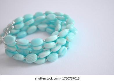 designer bracelet blue opal peru bright jewelry wide blue lagoon ocea woman luxury jewelry handmade