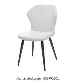 Designer chair on a white background.