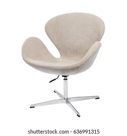 Designer chair on a white background.