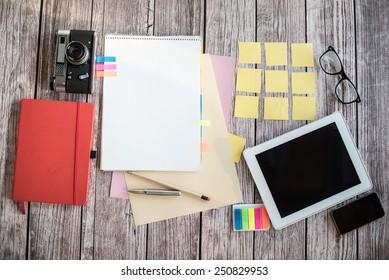 Designer desk with few elements