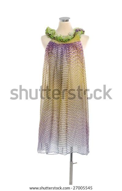 Designer fashion clothing on display