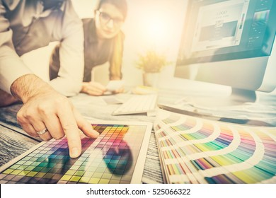 Photo of designer graphic creative creativity work tablet designing design imac artist coloring colour ideas style networking human notebook pattern place concept - stock image