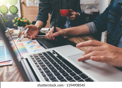 designer graphic team meeting creative creativity work tablet design artist coloring colour ideas style networking human notebook pattern place concept warm colours sun light.