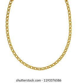 Designer heavy gold curb link chain for men isolated