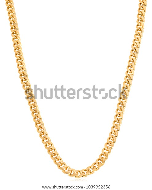 Designer Heavy Gold Curb Link Chain Stock Photo Edit Now 1039952356