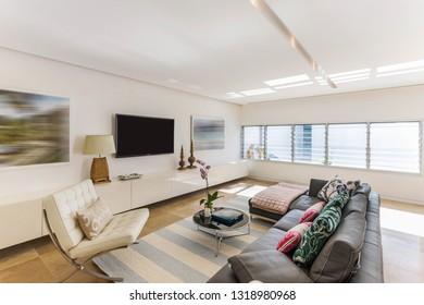 A designer living room
