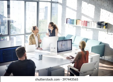 Designer Meeting Colleague Teamwork Occupation Concept