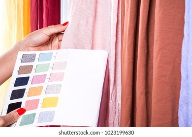 Designer selection fabric / knit stretch fabric color card