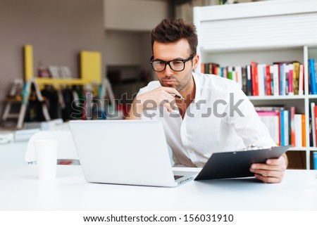 Designer working with laptop
