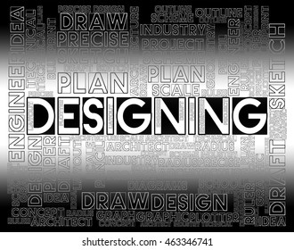 Designing Words Showing Graphic Idea And Creation