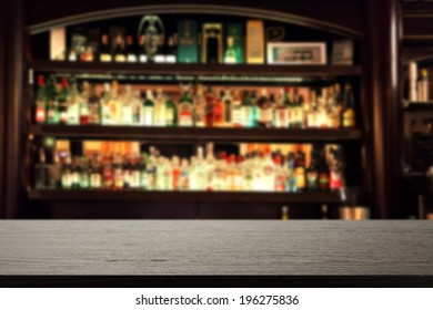 desk and bar