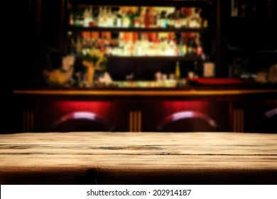 desk in bar