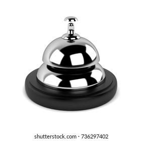 Desk Bell 3D Rendering
