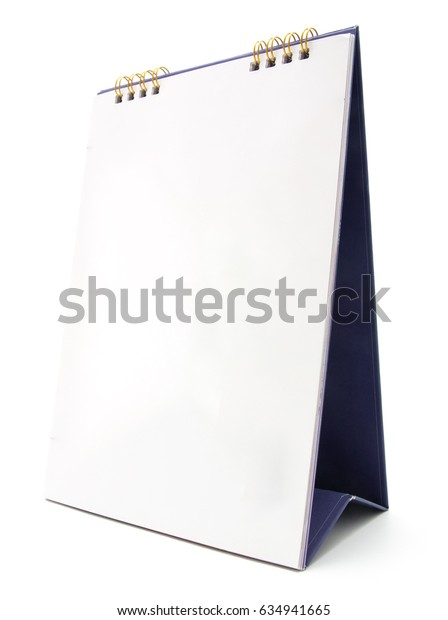 desk calendar isolated on white background