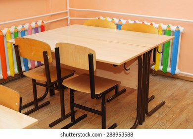 desk in the class room