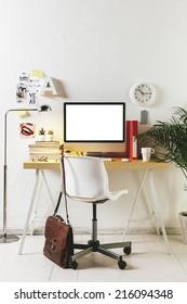 Desk of creative worker. /  Modern creative workspace.