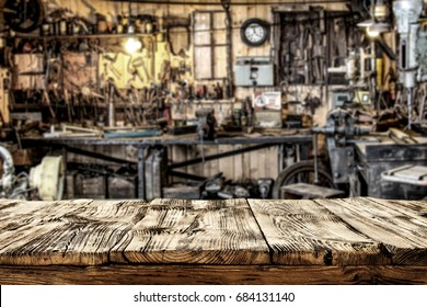 desk of free space and workshop