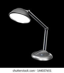 Desk lamp in a dark. 3D image.
