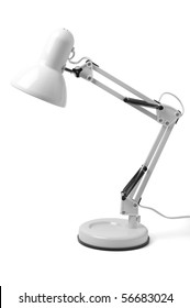 desk lamp on a white background. isolated path included