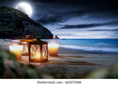desk space and summer night