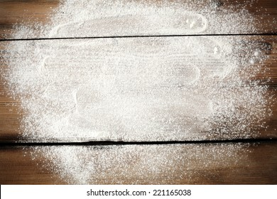 desk of white flour