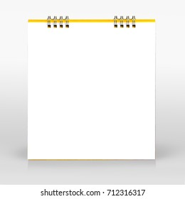 Desktop calendar isolated on gray background. This has clipping path.