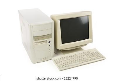 Desktop Computer close up shot