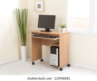 Desktop computer with cpu the important office equipment