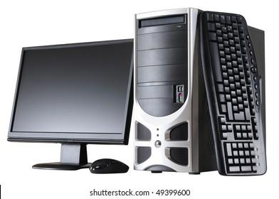 Desktop computer. Isolated