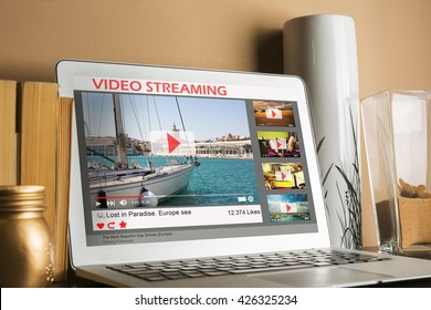 Desktop computer streaming video in the home