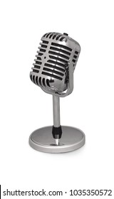 Desktop microphone isolated on white