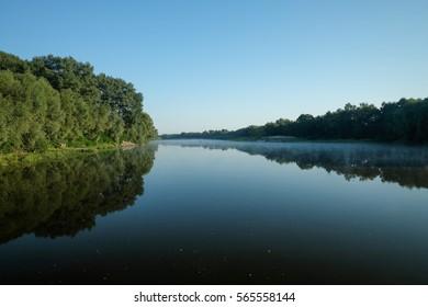 Desna river in the morning (Chernihiv region, Ukraine)