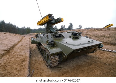 Desna, Ukraine - March 24? 2008. The Strela-10 (SA-13 Gopher) is a mobile, optical/infrared-guided surface-to-air missile system at the poligon