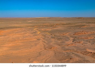 Desolate Expansive Desert in Gobi, Mongolia.