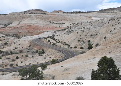 Desolate highway in Grand Staircase of the Escalante in southern Utah.