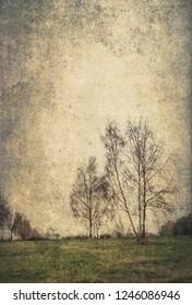 desolate landscape as a photomontage