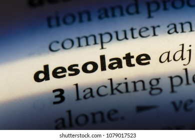 desolate word in a dictionary. desolate concept