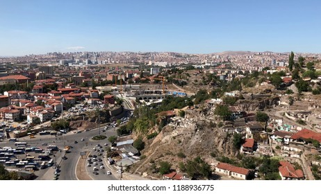 Desolated slums in Ulus, Ankara.
