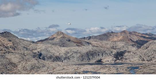 Desolation Wilderness Aloha Lake and Pyramid Peak