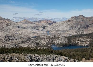Desolation Wilderness from Mount Ralston in the Sierras