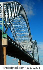 The DeSoto Bridge Spans the Mississippi River In Memphis, Tennessee, connecting it with Arkansas
