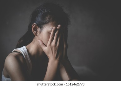 despair rape victim waiting for help, Stop sexual harassment and violence against women, rape and sexual abuse concept.