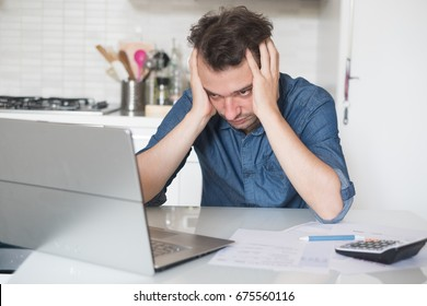 Desperate man trying to find a solution for taxes and debts