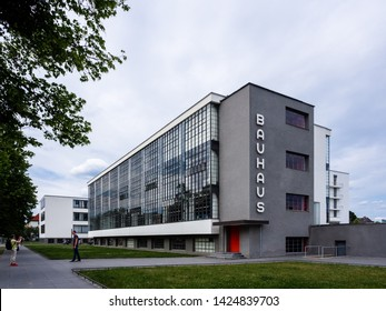 Dessau , Germany 15 June 2018 - Bauhaus Dessau an Art School The Symbol of Architecture Modernism Design by Walter Gropius in 1925