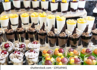 Dessert buffet.