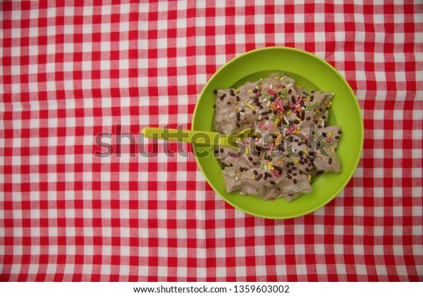 Cube Dessert Bowl  Green