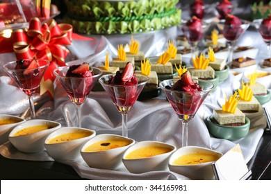 Dessert on buffet line