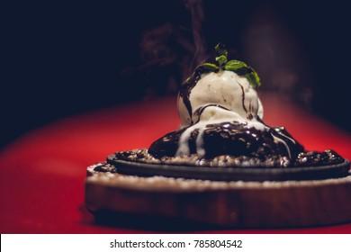 Dessert option at a cafe.