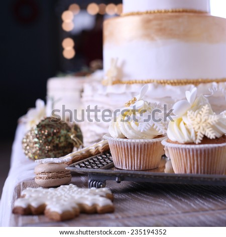 Dessert Table Christmas Party Stock Photo Edit Now 235194352